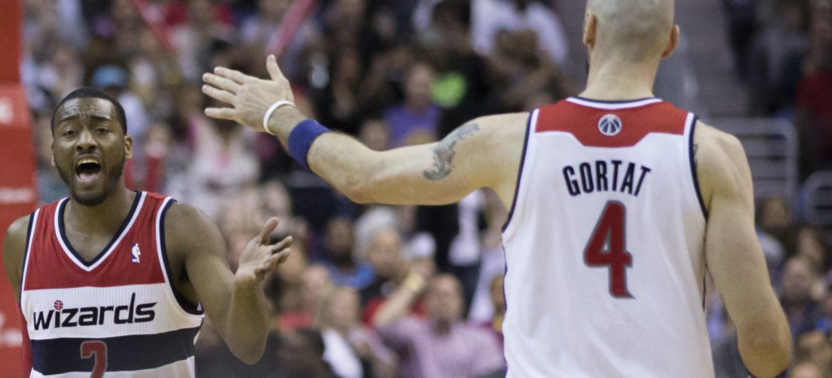 Wyniki NBA: Trwa seria Wizards, double-double Gortata