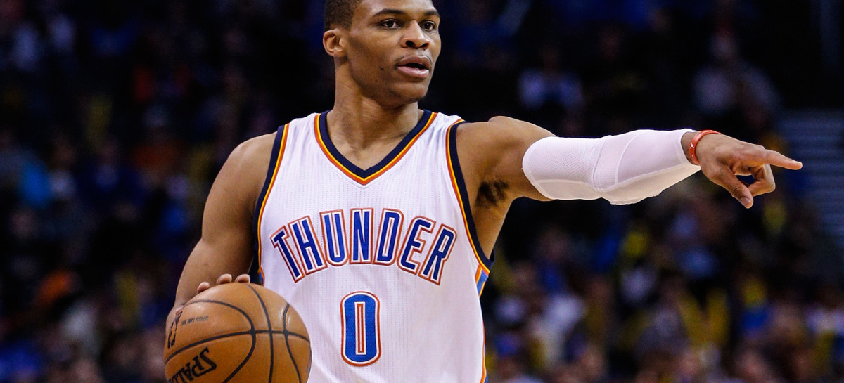 Wyniki NBA: Triple-double Westbrooka i Hardena. Trzecia kwarta Warriors. Miami znów wygrywają