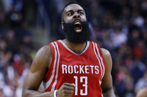 Wyniki NBA: Triple-double Hardena w wygranej Rakiet, 35 punktów Wigginsa!