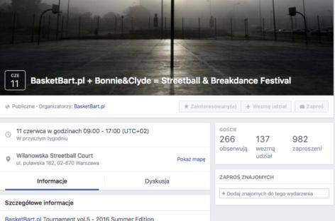 W sobotę 11 czerwca w Warszawie Streetball & Breakdance Festival