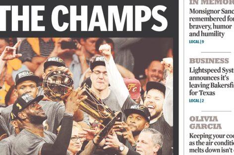 NBA: Okładki gazet po ostatniej nocy