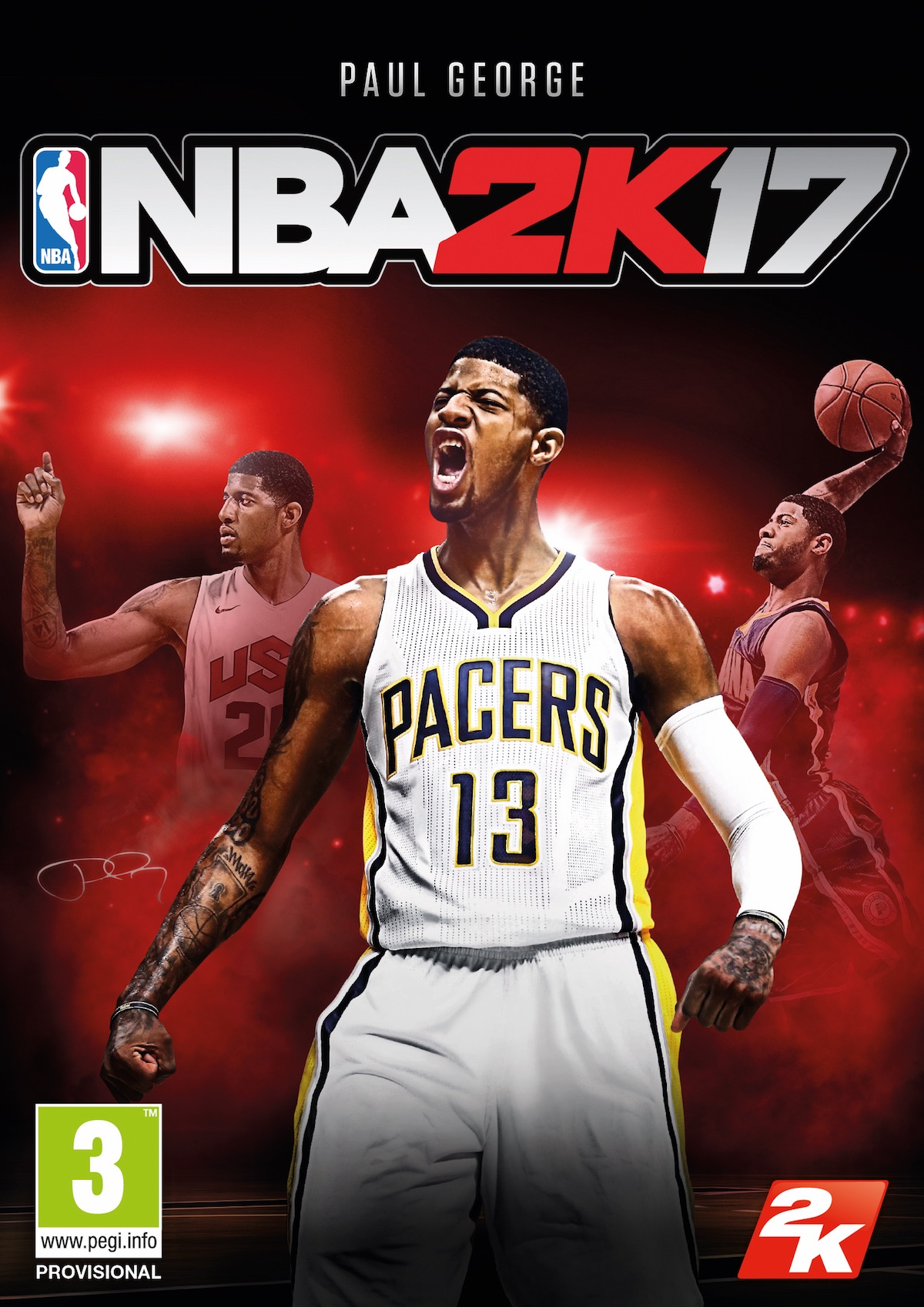 NBA 2K17 okładka Cover Paul George