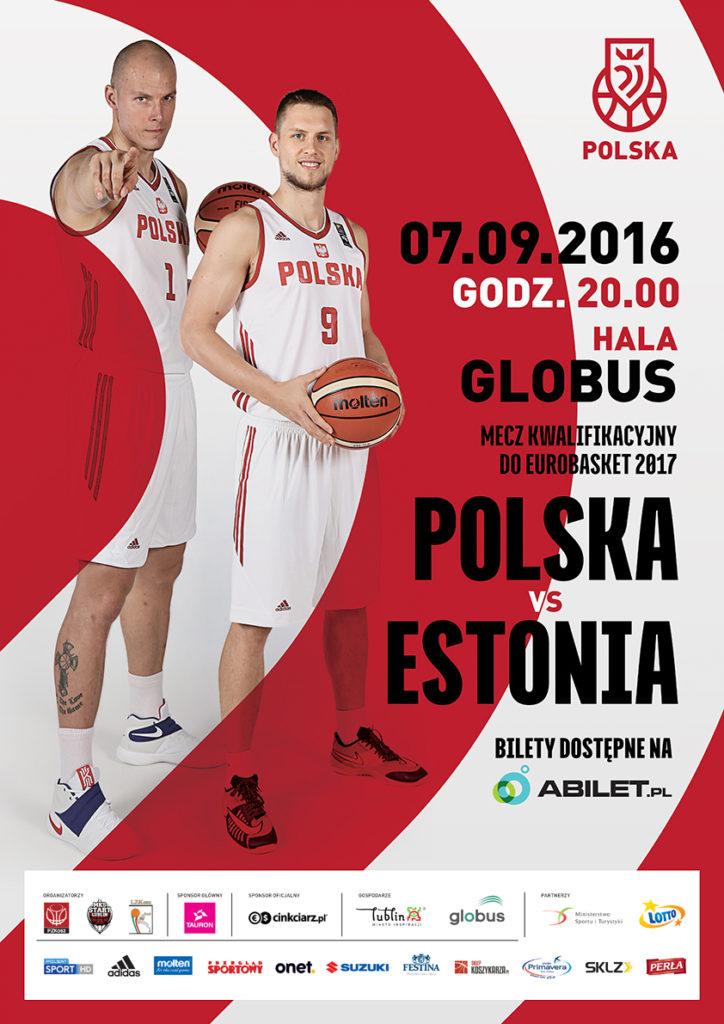 plakat Polska - Estonia