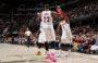 Wyniki NBA: Wielbłąd Thunder, 28 oczek Nene, James znów ograł George'a