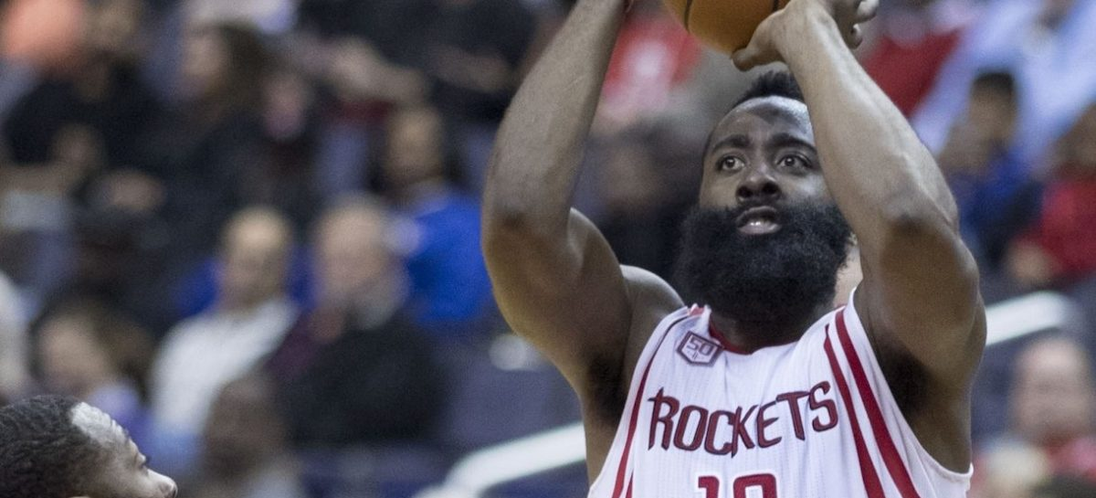 Wyniki NBA: noc blowoutów osłodzona przez triple-double Jamesa Hardena