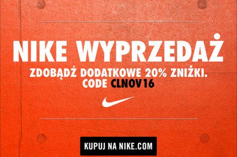 Ostatnie dni wyprzedaży w Nike! Dodatkowe 20% na produkty już przecenione!