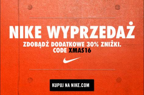 Dodatkowe 30% zniżki na przecenione już produkty w oficjalnym sklepie NIKE!
