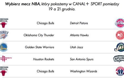Wybieramy dodatkowe mecze NBA w Canal+ Sport