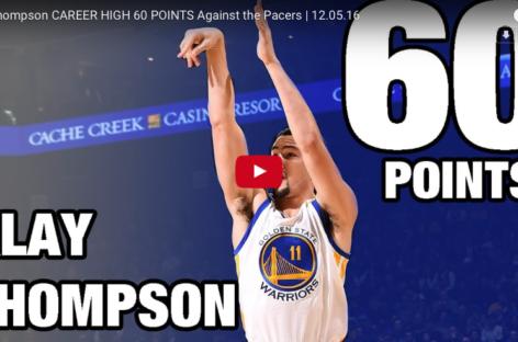 Klay Thompson rzucił 60 punktów w 29 minut!