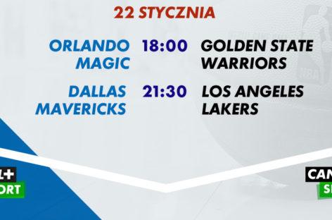 Niedzielny wieczór z NBA NA ŻYWO już od 18:00!