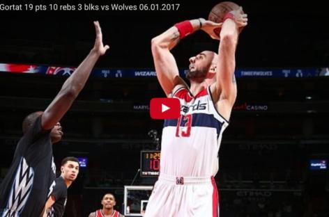 Wyniki NBA: 19 punktów Gortata, 18 asyst Walla, Wizards zatrzymują Wolves