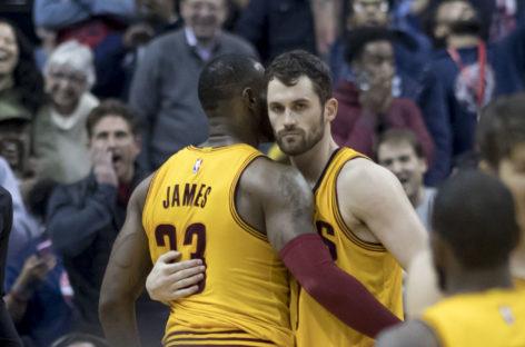 Wyniki NBA: 70 punktów Love'a i Jamesa. Celtics bez szans