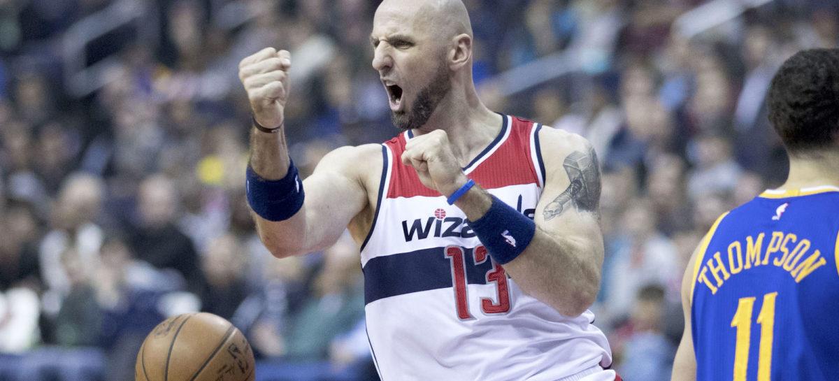 Wyniki NBA: 3 bloki Gortata w minutę! 32 oczka Walla i 2-0 dla Wizards