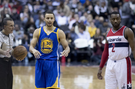 NBA: 42 punkty Curry'ego, triple-double Greena i wysoka porażka Wizards z Warriors