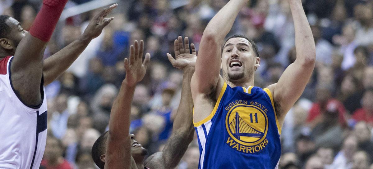 Wyniki NBA: Znakomity Klay Thompson, triple-double aż trzech graczy