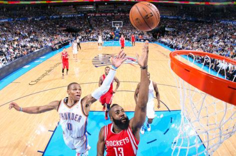 Niedzielny wieczór z NBA Playoffs! O 21.30 na Canal+ Sport Westbrook vs Harden!