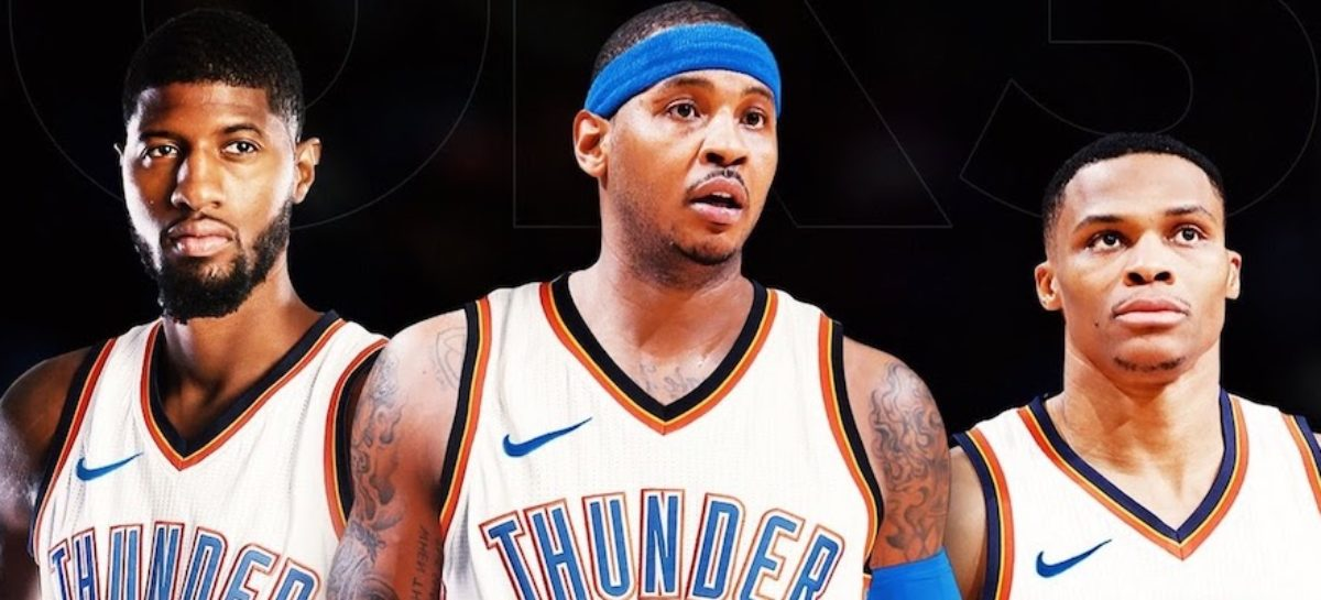 NBA: Trzy gwiazdy w Thunder. Czy to wypali?