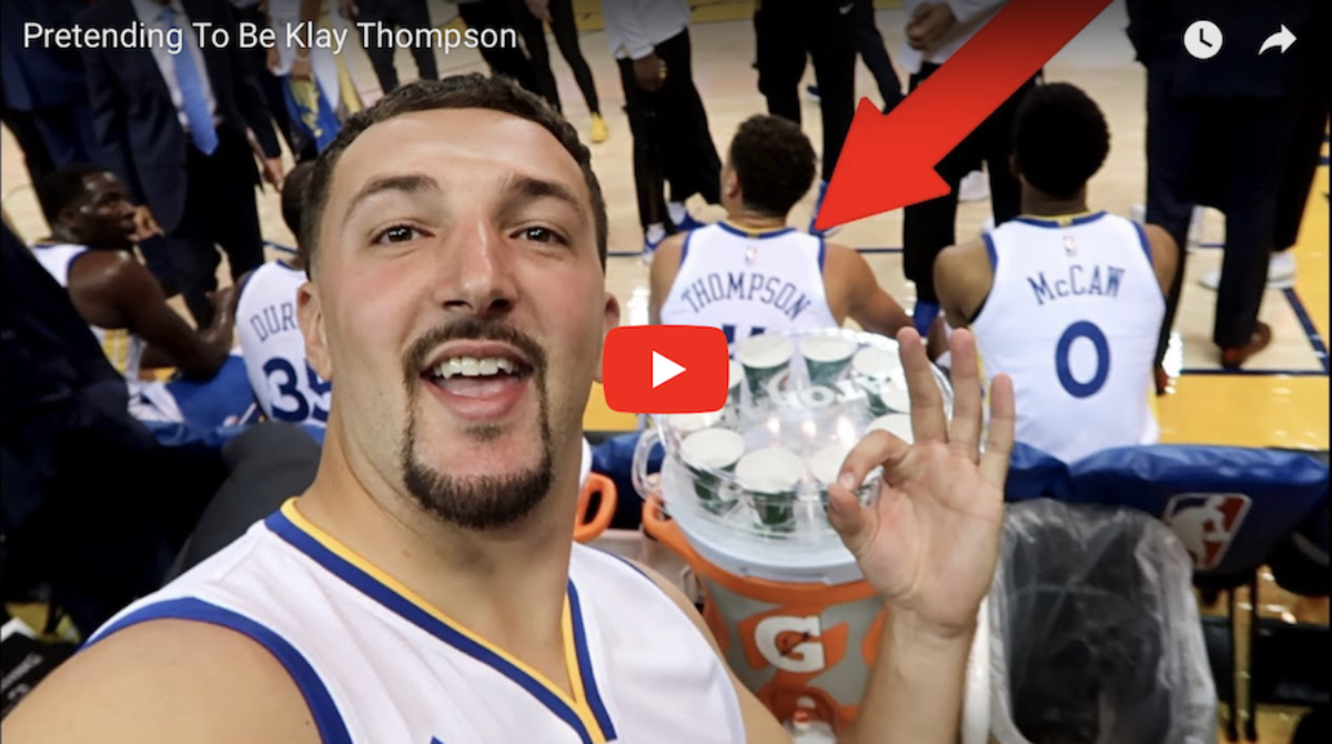 Video NBA: Fałszywy Klay Thompson nabrał kibiców!