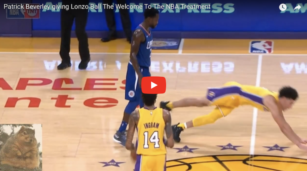 Video NBA: Lonzo Ball sponiewierany przez Beverly'ego (video)