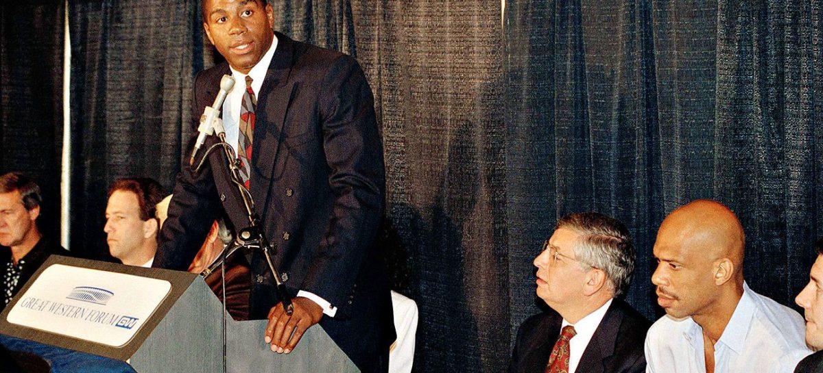 1991 – Magic Johnson niespodziewanie kończy karierę
