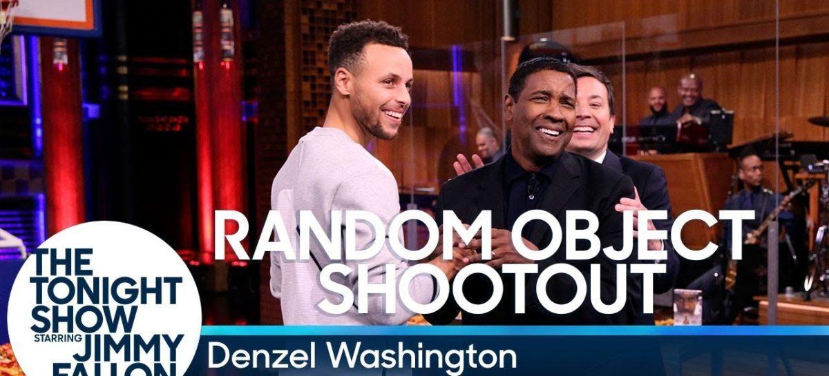 NBA: Curry rzuca z Denzelem Washingtonem