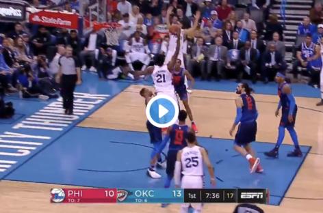 NBA: Embiid wziął Westbrooka na plakat! ALE… !!!