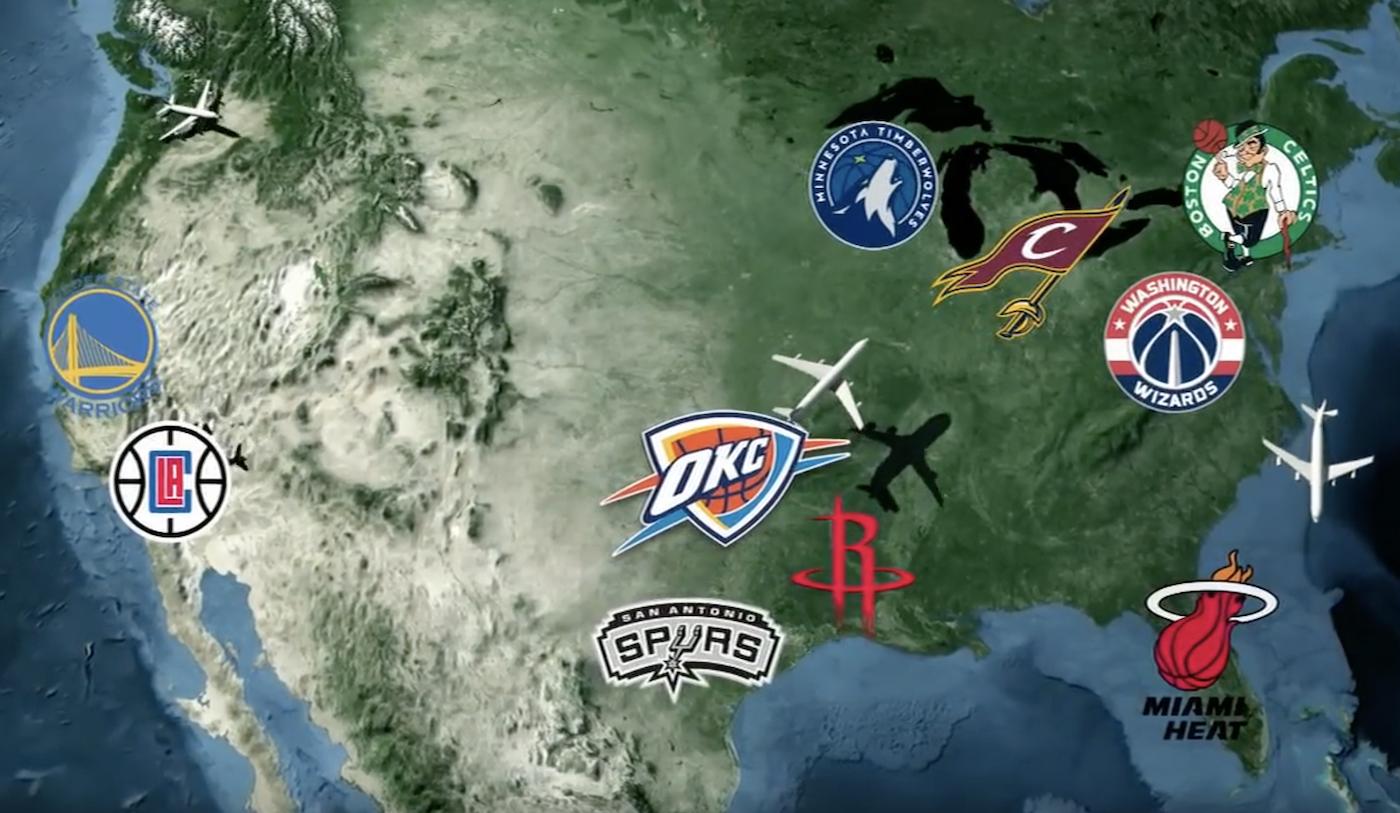 Który zespół NBA podróżuje najwięcej, a który najmniej? | PROBASKET